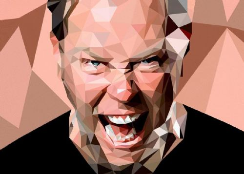 METALLICA  - JAMES HETFIELD - Fragmented canvas print - self adhesive poster - photo print